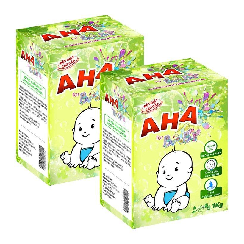 Bột giặt cho trẻ em AHA Baby diệt khuẩn và không kích ứng
