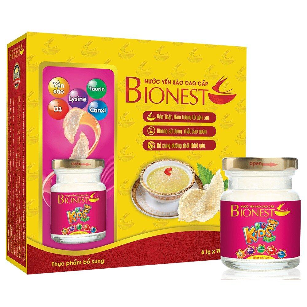 Yến sào cho bé biếng ăn Bionest Kids