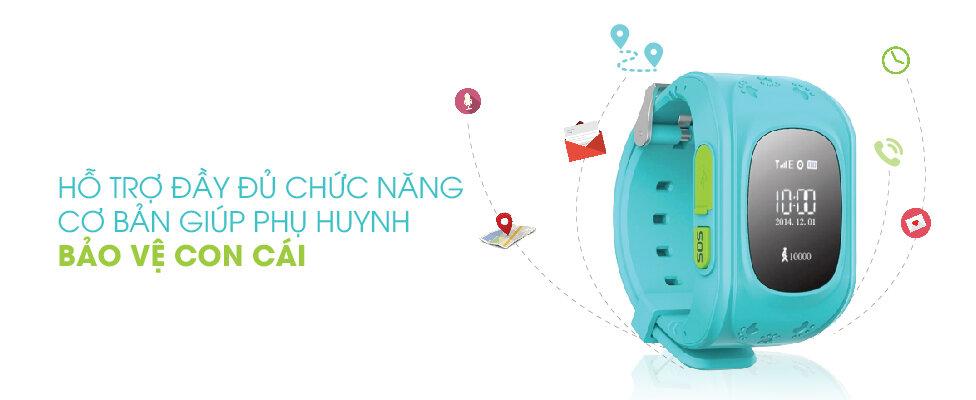 đồng hồ thông minh trẻ em GPS Y2 nhiều tính năng an toàn cho trẻ nhỏ