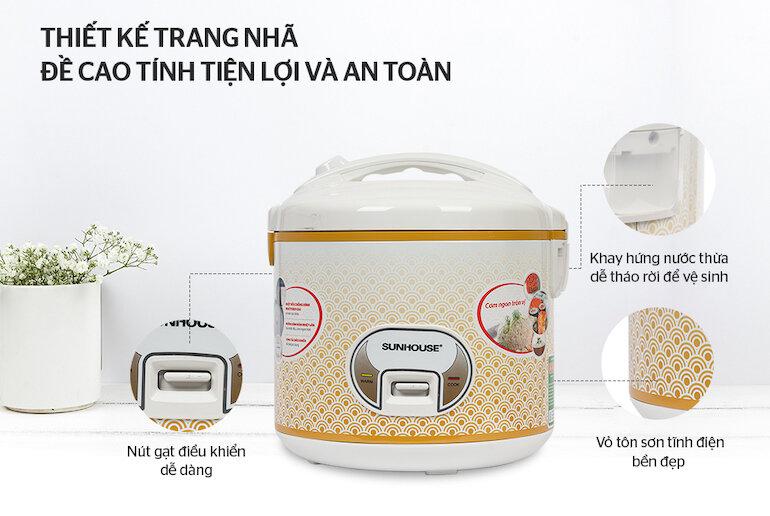 Sunhouse SH830 2.8L giúp nấu ăn cho gia đình trên 6 thành viên