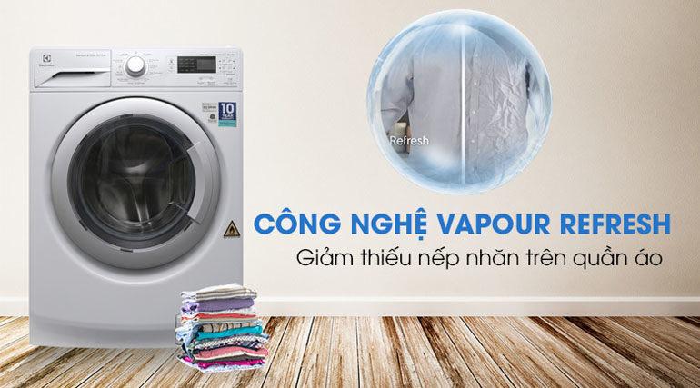 Máy giặt sấy khô không cần phơi Electrolux.
