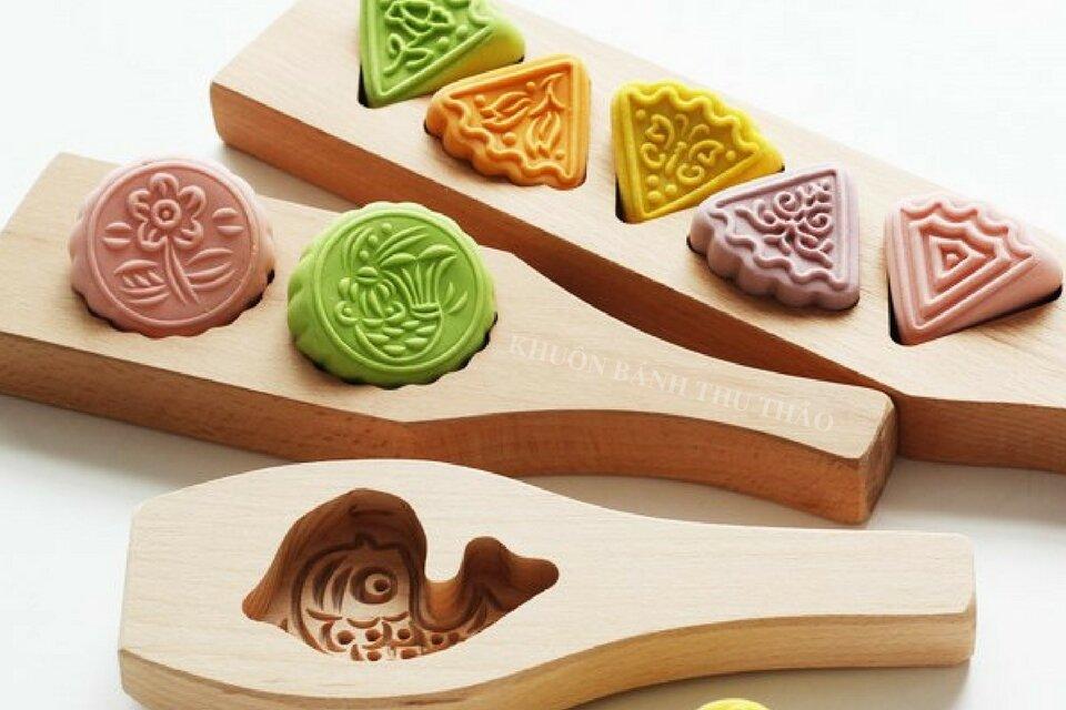 Chọn khuôn bánh bằng gỗ họa tiết đẹp