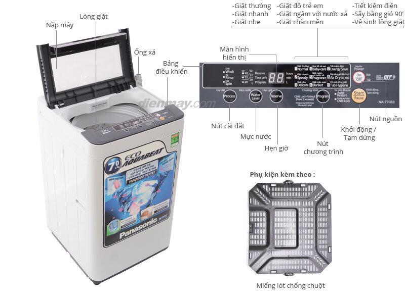 Máy giặt Panasonic NA-F70B3HRV
