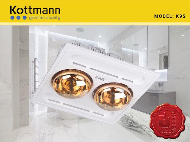 Ưu điểm của đèn sưởi Kottmann 2 bóng