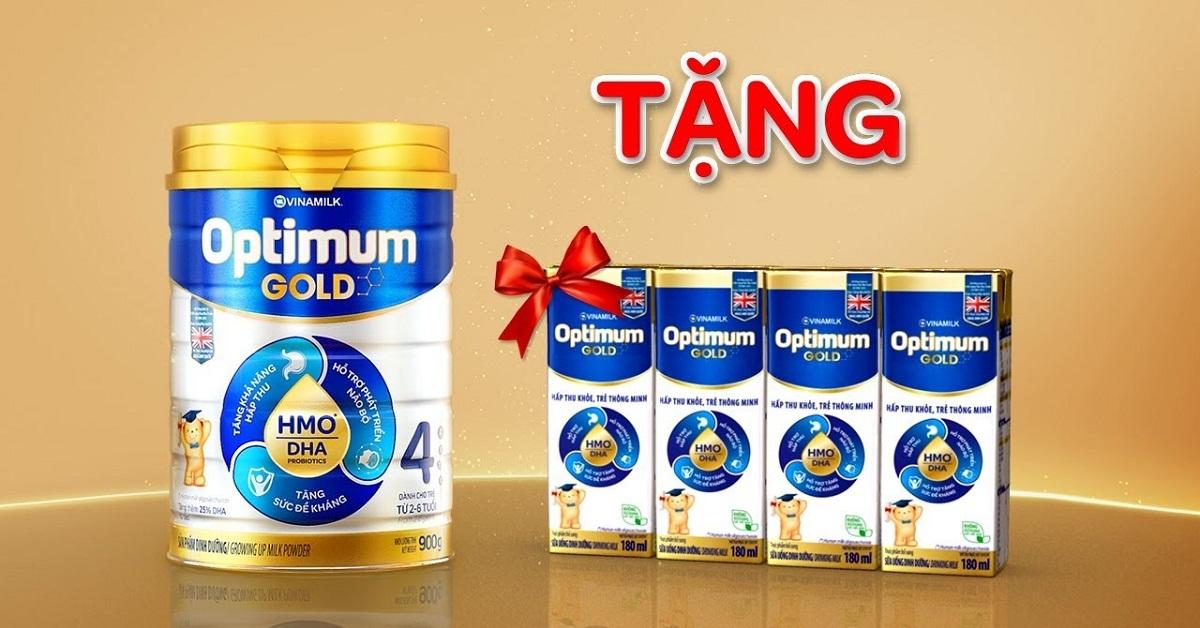 Mua sữa Optimum Gold 4 khuyến mãi được tặng những gì?
