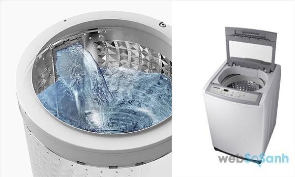 máy giặt lồng đứng 9kg giá 5 triệu Samsung Wa90M5120SG