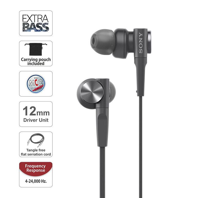 Tai nghe In-ear Sony Extra Bass MDR-XB55AP có thiết kế nhỏ gọn (Nguồn: phongvu.vn)