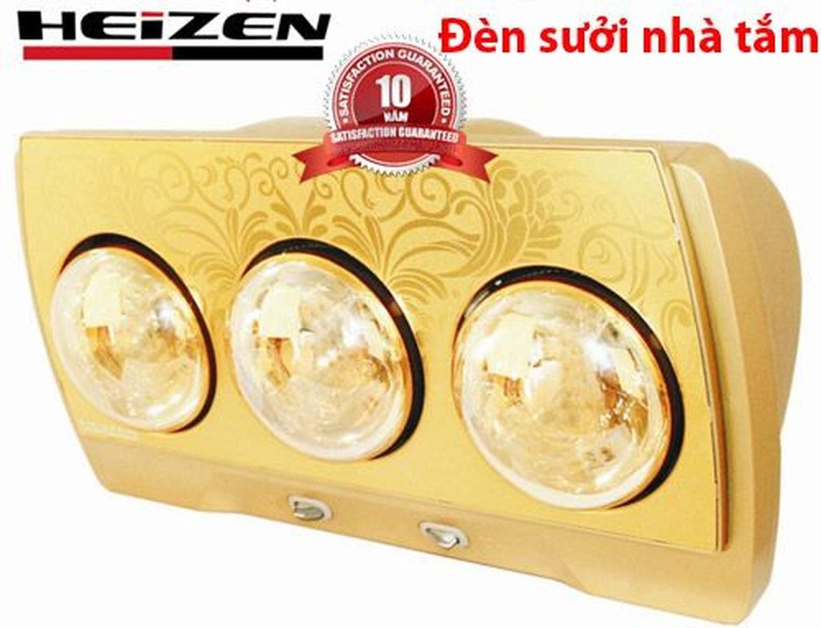 Đèn sưởi nhà tắm 3 bóng vàng Heizen HE-3BR