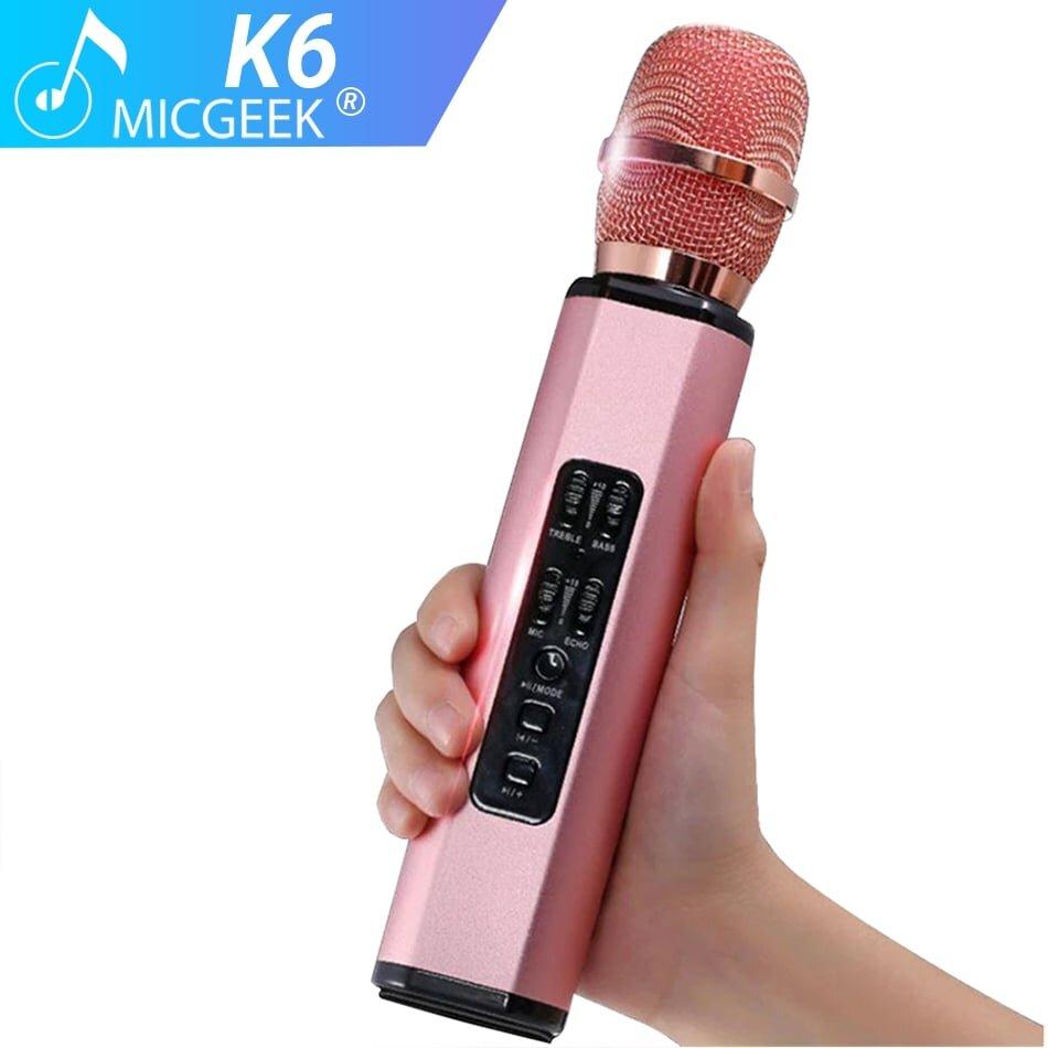 Micro bluetooth hát kara trên điện thoại Tuxun K6 với màu sắc mới lạ