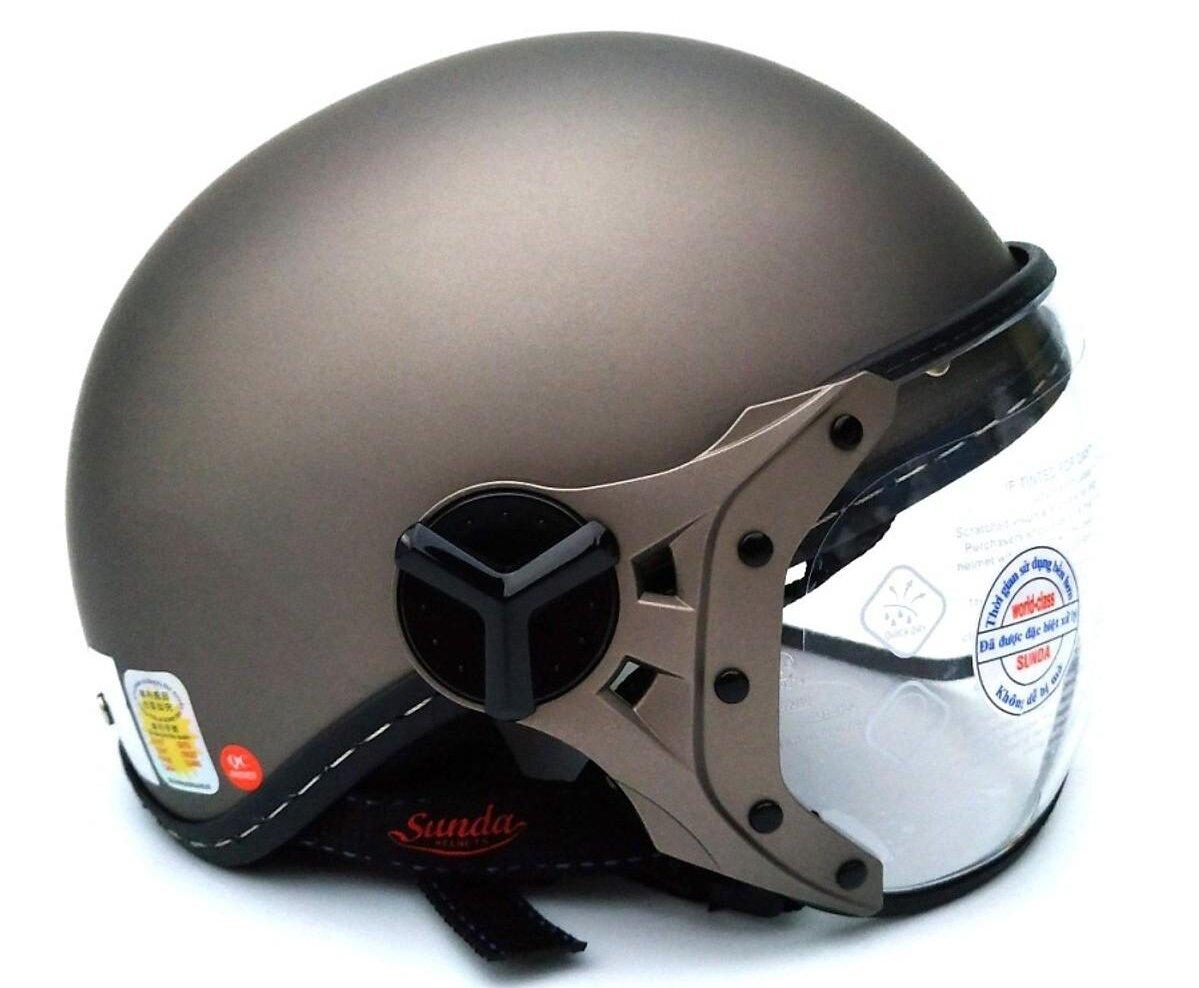 Mũ bảo hiểm Sunda 180B thiết kế gọn nhẹ, thoải mái khi sử dụng