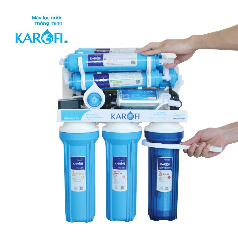Siết chặt cốc lọc 1 nhưng để lỏng 1 - 2 ren để tránh hiện tượng Air khí