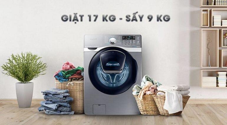 SamsungAdd Wash WD17J7825KP/SV là chiếc máy giặt sấy 2 in 1 có khối lượng giặt lớn