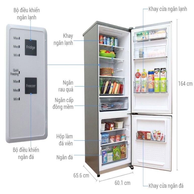 Tủ lạnh Panasonic ngăn đá dưới