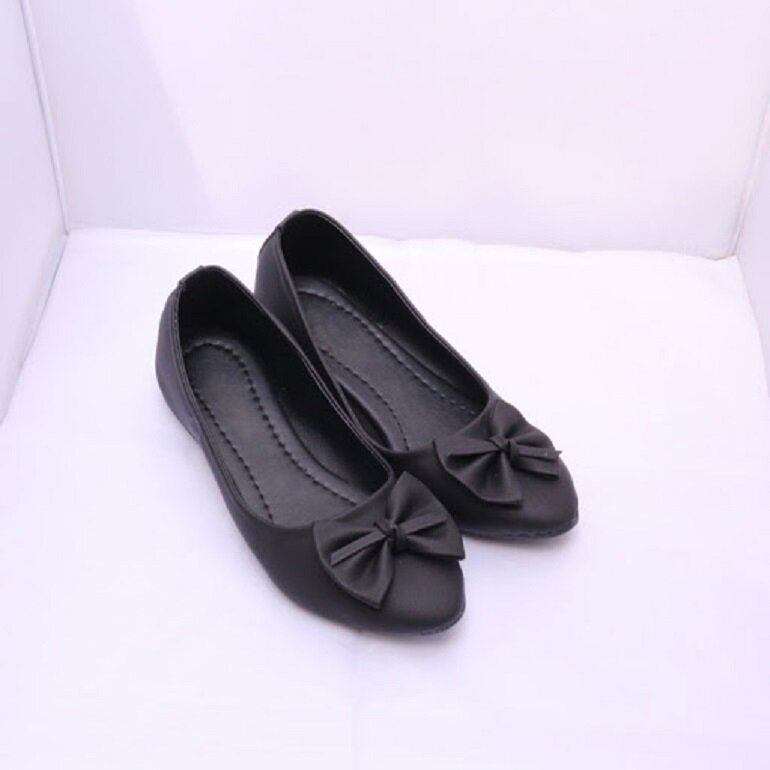 giày búp bê đen cao cấp
