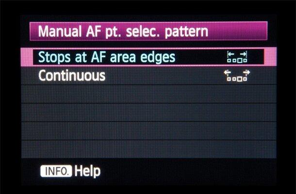Canon EOS 5D Mark III tips: AF point