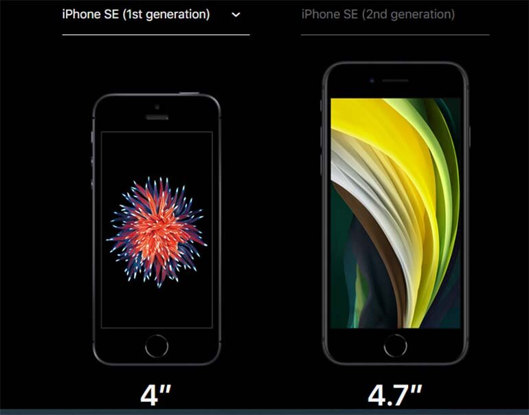 so sánh iphone se và iphone se 2