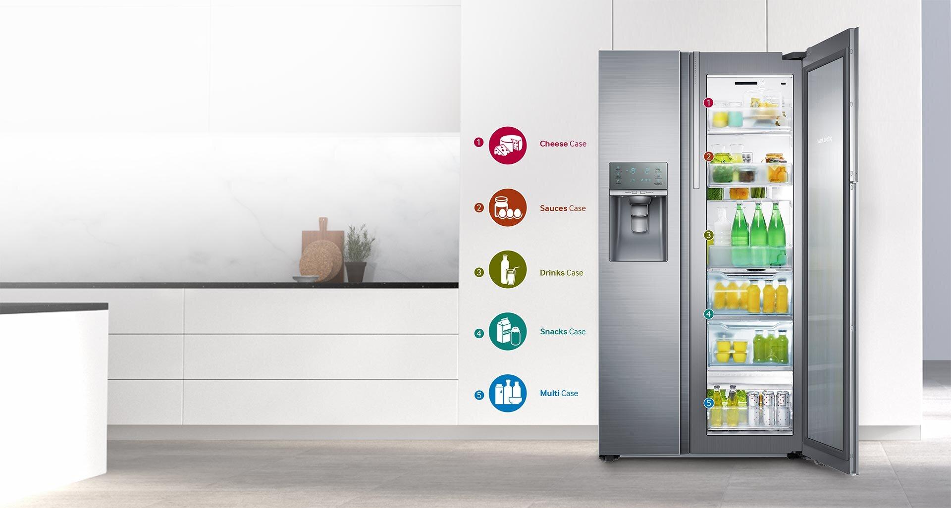 Tủ lạnh bốn cửa của Samsung có ngăn chứa lớn