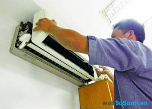 Không nên lắp điều hòa ở bức tường nóng nhất