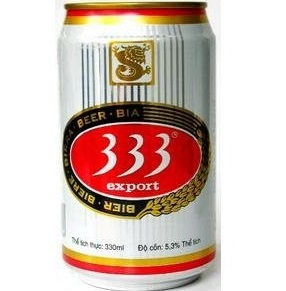 Giá bia 333 lon
