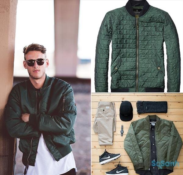 Bạn không phải lo ngại màu xanh quân đội sẽ làm bạn già đi với kiểu dáng rất năng động của chiếc áo Bomber này bạn sẽ trở nên vô cùng thu hút và nổi bật.