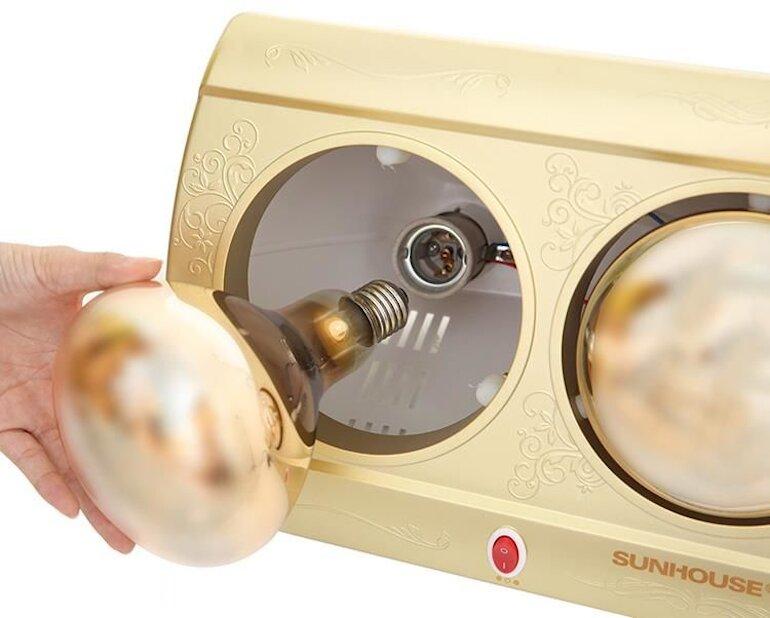 Công năng sử dụng của đèn sưởi phòng tắm Sunhouse shd3813