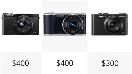 The Panasonic LF1 is the cheapest camera in out comparison