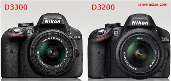 Nikon D3300 vs D3200 side by side
