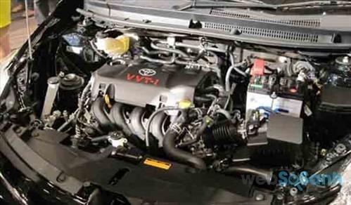 Trang bị động cơ trên Toyota Vios 2016