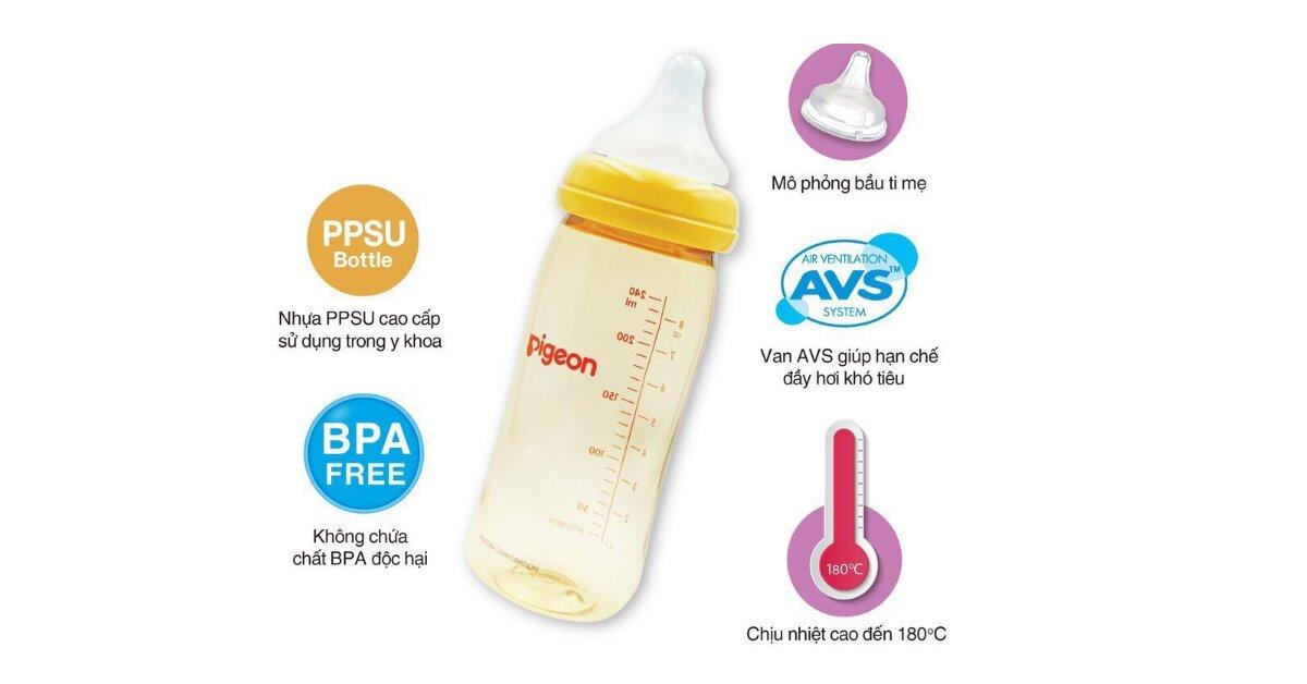 Bình sữa Pigeon cổ rộng - Đánh giá và so sánh với các hãng bình sữa cho bé nổi tiếng khác