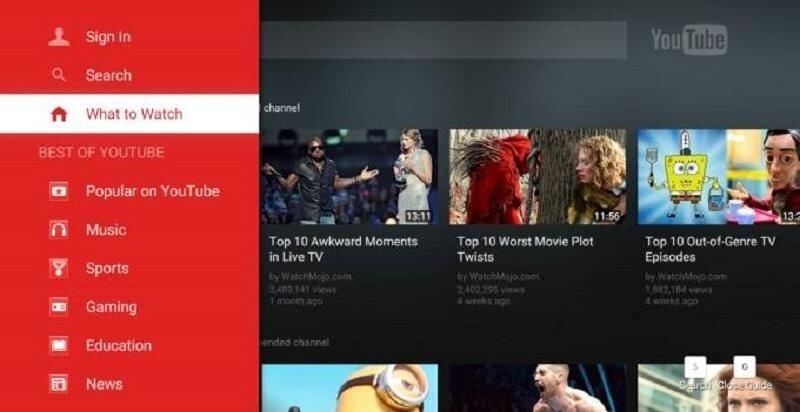 Youtube là ứng dụng hay không thể thiếu trên Smart tivi Sony.