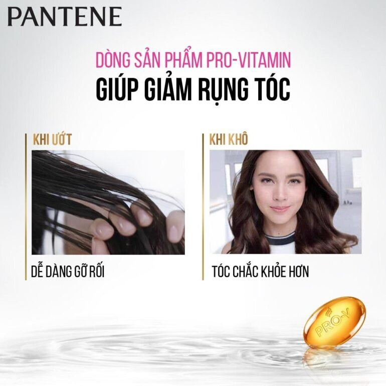 Dầu gội ngăn rụng tóc Pantene cam kết giảm rụng tới 98%