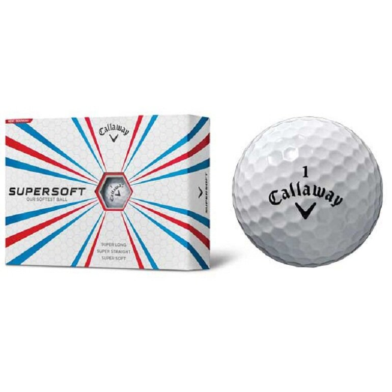Bóng chơi golf Callaway Supersoft 12B