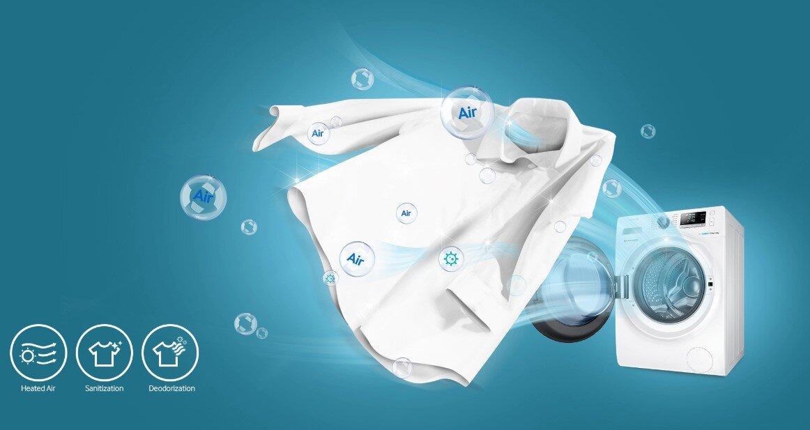 Sản phẩm trang bị nhiều tính năng giúp giặt quần áo sạch hơn