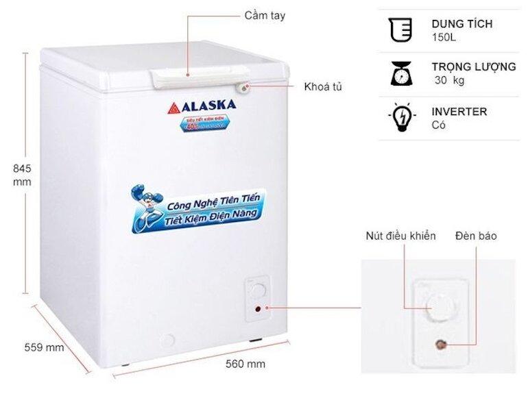 Tủ đông giá rẻ Alaska BD-150