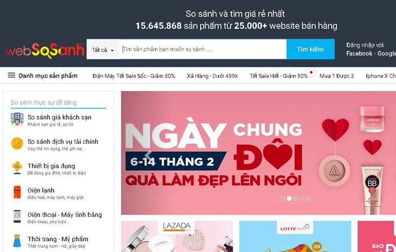 Websosanh.vn - Nơi người tiêu dùng tham khảo trước khi mua sắm trực tiếp