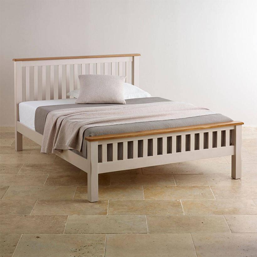 Giường đơn Emley gỗ sồi Cozino 1.2m