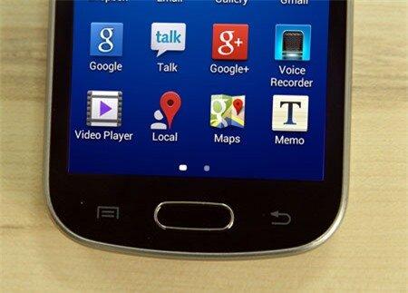 Nút Home, nút đa nhiệm và nút Back thường thấy trên các dòng điện thoại Galaxy.