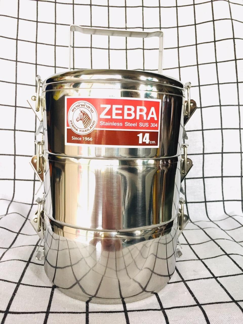 Cặp lồng 3 ngăn của Zebra cho bạn khả năng mang được nhiều loại thức ăn hơn