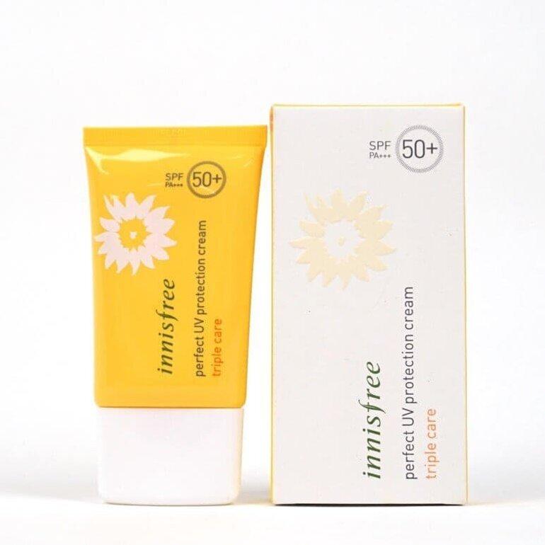 Innisfree Perfect UV Protection Cream triple care SPF 50+ PA+++