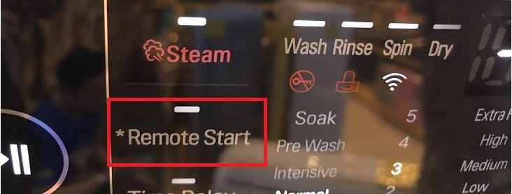 Tính năng khởi động từ xa trên máy giặt LG F2721HTTV