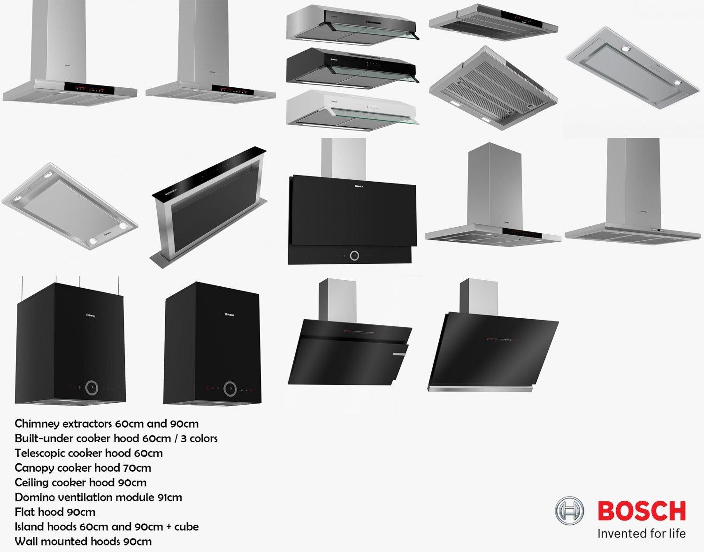 Các loại máy hút mùi Bosch
