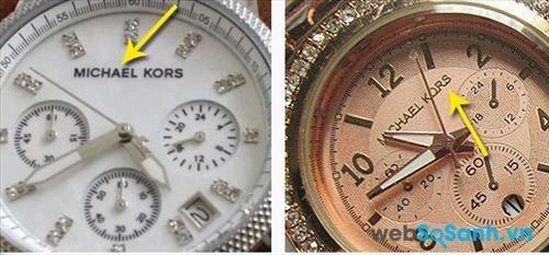 Bạn hoàn toàn có thể phân biệt được đồng hồ Michael Kors chính hãng thật giả