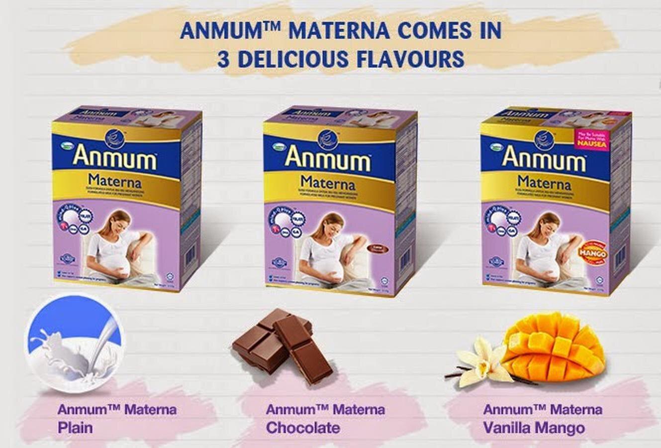 Sữa cho bà bầu Anmum Materna với nhiều vị khác nhau đảm bảo nguồn dinh dưỡng