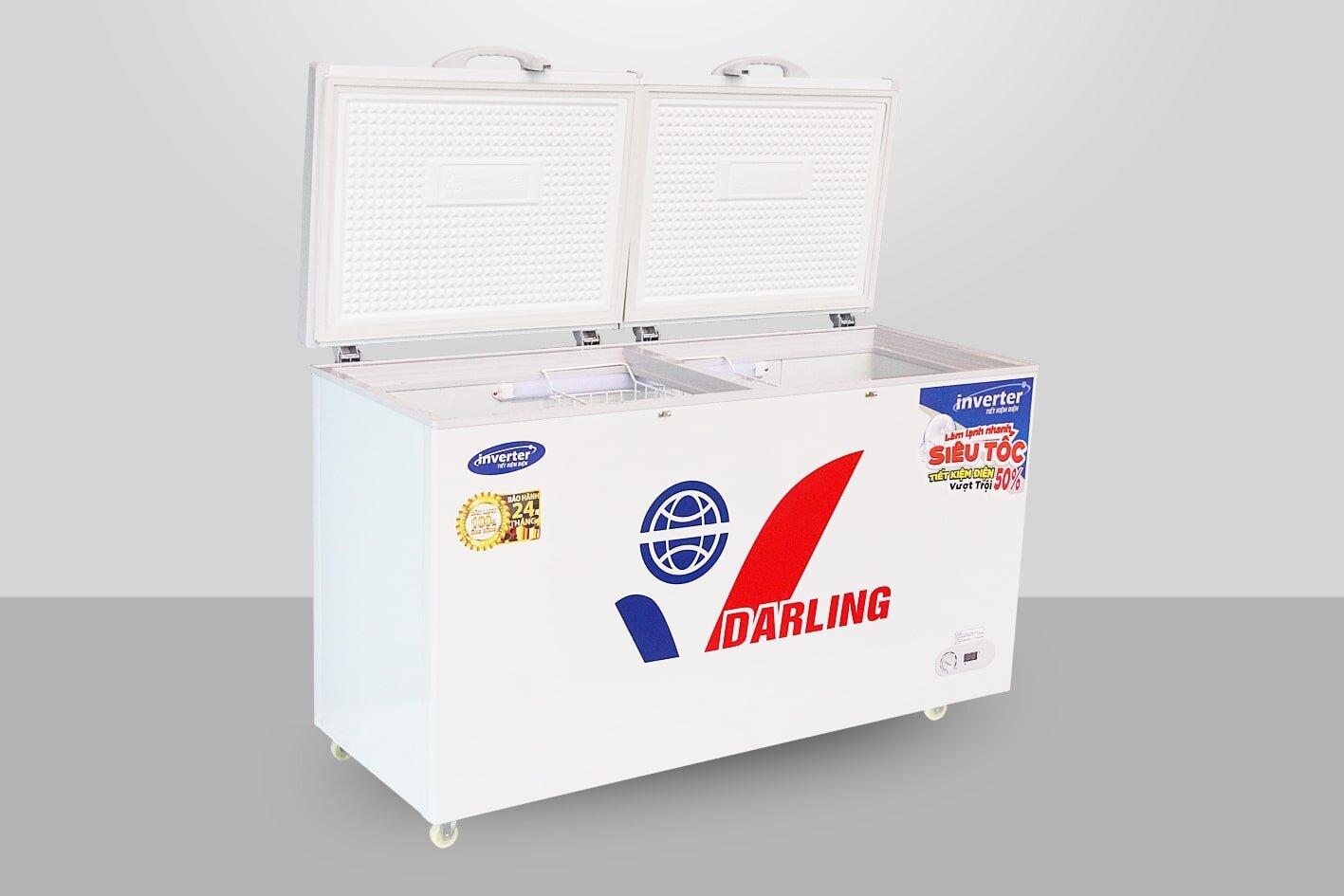 Tủ đông mặt kính Inverter Darling DMF-4079 KI-1 áp dụng công nghệ tiết kiệm điện tối ưu