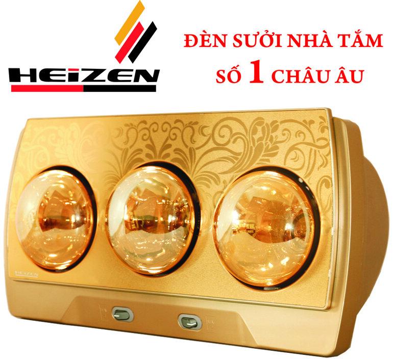 Đèn sưởi nhà tắm 3 bóng Heizen cho phòng tắm diện tích nhỏ 3-4m2