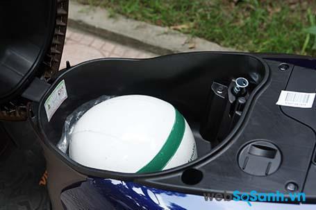 Cốp xe Honda Vision dung tích 18 lít