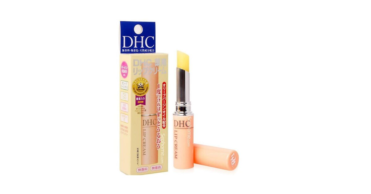 Review son dưỡng DHC Lip Cream - dưỡng ẩm, trị thâm môi hiệu quả