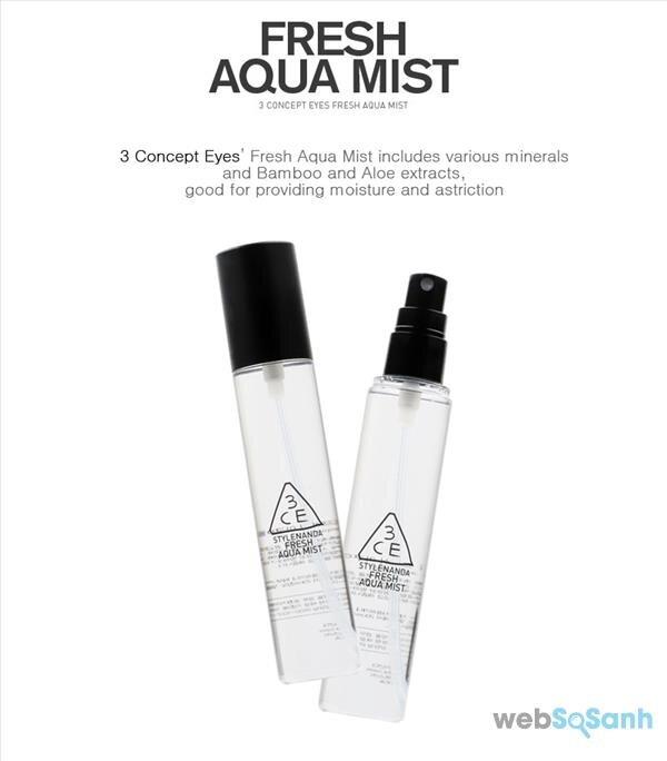 3CE fresh aqua mist có tốt không