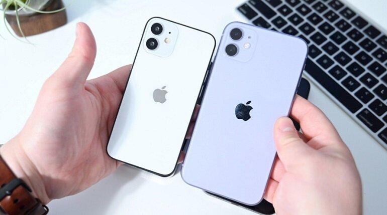 so sánh iphone 12 và iphone 12 mini