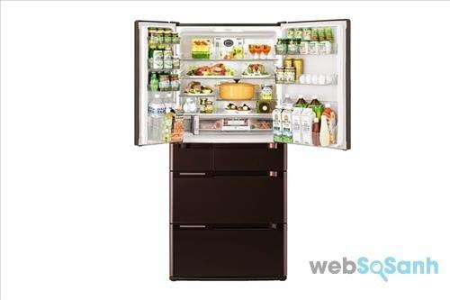 Tủ lạnh Hitachi side by side 6 cửa R-C6200S XT 644 lít